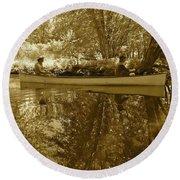 Canton Canoe Trip 2016 40 Round Beach Towel