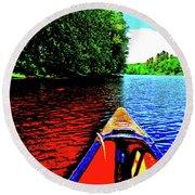 Canton Canoe Trip 2016 49 Round Beach Towel