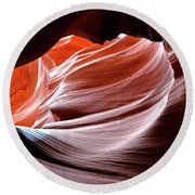Canyon Abstract 2 Round Beach Towel