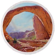 Canyon Arch Round Beach Towel