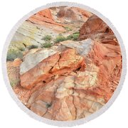 Canyon Color In Valley Of Fire Round Beach Towel by Ray Mathis