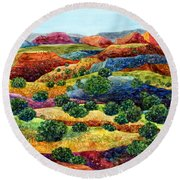 Canyon Impressions Round Beach Towel