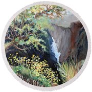 Canyon Land Round Beach Towel