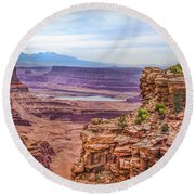 Canyon Landscape Round Beach Towel