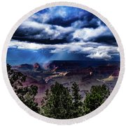 Canyon Rains Round Beach Towel
