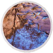 Canyon Reflections Round Beach Towel