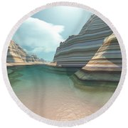 Canyon River Round Beach Towel