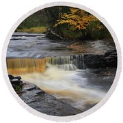Canyon River Falls Round Beach Towel