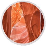 Canyon Textures Round Beach Towel