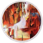 Canyon Walls Round Beach Towel