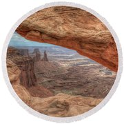 Canyonlands From Mesa Arch Round Beach Towel
