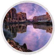 Canyonlands Sunset Round Beach Towel