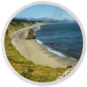 Cape Blanco On The Oregon Coast By Michael Tidwell Round Beach Towel