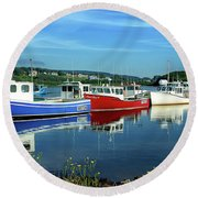 Round Beach Towel featuring the photograph Cape Breton Island by Rodney Campbell