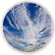 Cape Clouds Round Beach Towel