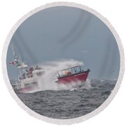 Round Beach Towel featuring the photograph Cape Cockburn by Randy Hall