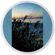 Round Beach Towel featuring the photograph Cape Cod Bay by Bruce Carpenter