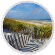 Cape Cod Charm Round Beach Towel