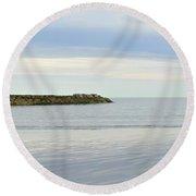 Cape Cod Jetty Sundown Round Beach Towel
