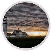 Cape Cod Lighthouse Round Beach Towel