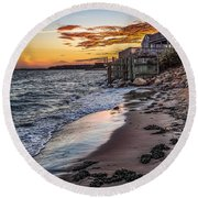 Round Beach Towel featuring the photograph Cape Cod September by Kendall McKernon
