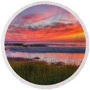 Cape Cod Skaket Beach Sunset Round Beach Towel
