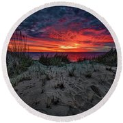 Cape Cod Sunrise Round Beach Towel