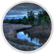 Round Beach Towel featuring the photograph Cape Fear Tide Pool by Phil Mancuso