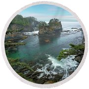Cape Flattery North Western Point Round Beach Towel