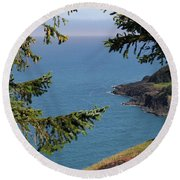 Cape Foulweather  Round Beach Towel
