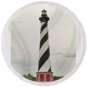 Cape Hatteras Light Round Beach Towel