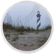 Cape Hatteras Over The Dunes Round Beach Towel