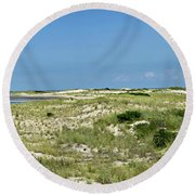 Cape Henlopen State Park - The Point - Delaware Round Beach Towel by Brendan Reals