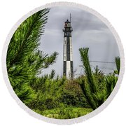 Cape Henry Light From The Dune Round Beach Towel