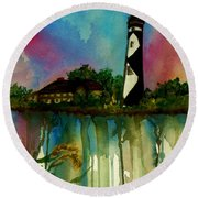 Cape Lookout Round Beach Towel