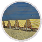 Cape May Cabanas 6 Round Beach Towel