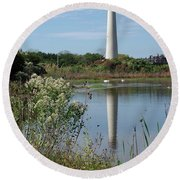 Cape May Lighthouse II Round Beach Towel