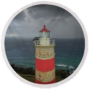 Round Beach Towel featuring the photograph Cape Moreton Light by Keiran Lusk