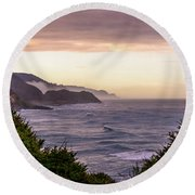Cape Perpetua, Oregon Coast Round Beach Towel