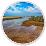Round Beach Towel featuring the photograph Cape Perspective by Kendall McKernon