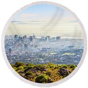 Round Beach Towel featuring the photograph Cape Town by Alexey Stiop