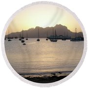 Cape Verde Sunset Round Beach Towel