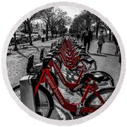 Capital Bikeshare Round Beach Towel
