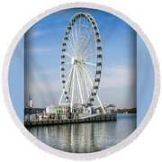 Capital Ferris Wheel Round Beach Towel