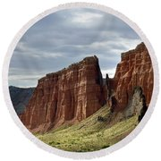 Capital Reef-cathedral Valley 9 Round Beach Towel