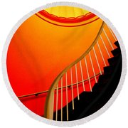Capital Stairs Round Beach Towel by Paul Wear