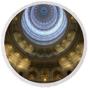 Capitol Dome Interior Round Beach Towel