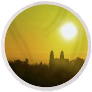 Capitol Hill Sunrise Too Round Beach Towel