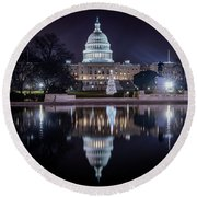 Capitol Reflects Round Beach Towel