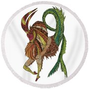 Capricorn Round Beach Towel